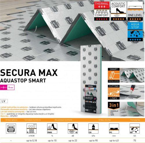 Apakšklājs Secura Max Aquastop Smart 5mm