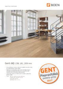 Boen parketa Cenu lapa Gent LV 2017