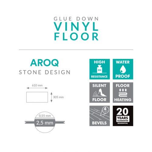 Arbiton Vinila grīdas segumi AROQ STONE